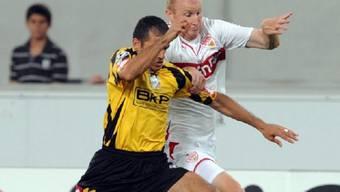 Magnin (r.) hat sich mit Stuttgart für die Champions League qualifiziert