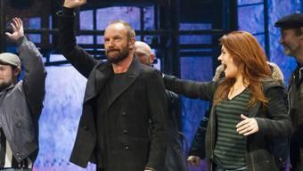 """Sting nach einer Aufführung von """"The Last Ship"""" am 9. Dezember 2014"""