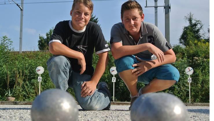 Pascal Schüpbach (l.) und Lukas Baur wollen die Konkurrenz überrollen.