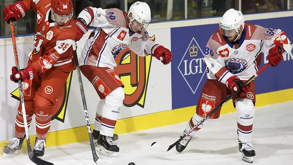 Junost Minsk im September 2019 im Spiel gegen den Lausanne HC