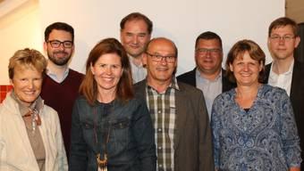 Die Bergdietiker FDP-Mannschaft v. li.: Christine Karmann, Patrick Schafflützel, Françoise Oklé, Roger Graf, Jean-Claude Rebetez, Ralf Dörig, Regula Weidenmann und Michael Güdel. Aline und Claudio Giovanoli waren für das Foto verhindert.