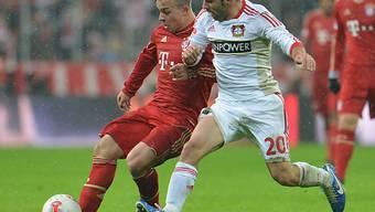Xherdan Shaqiri (links) verliert mit Bayern gegen Leverkusen