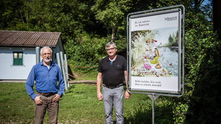 Litteringbotschafter für Biberist, v.l. Christian Bürki und Stefan Hug-Portmann.