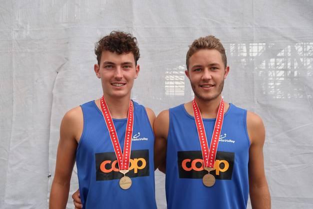 U21 Bronze David John (l.) und Jann Dillier