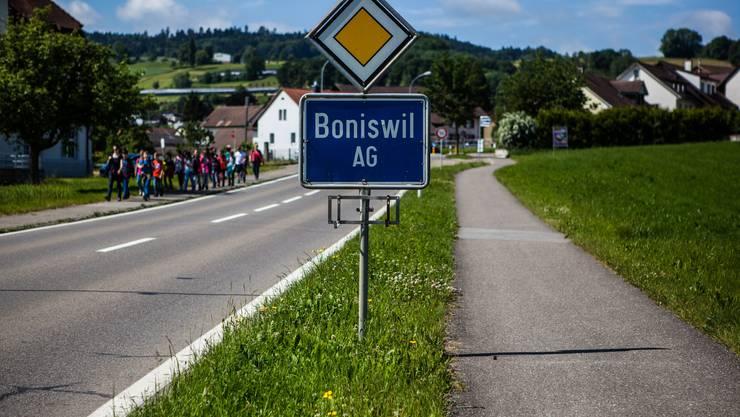 Boniswil - Ortstafel am Dorfeingang