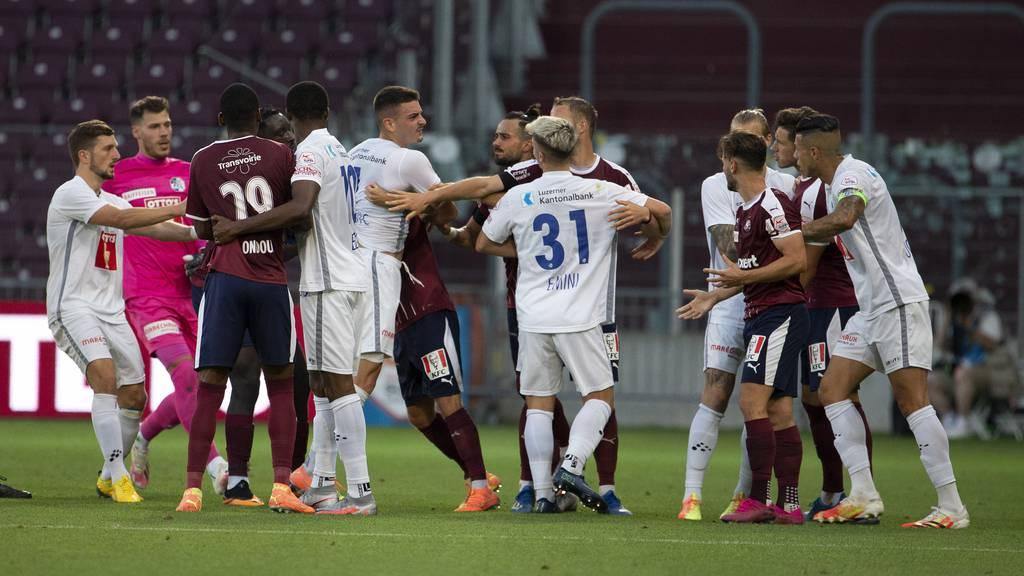 Servette Genf spielt gegen FC Luzern: 2:0
