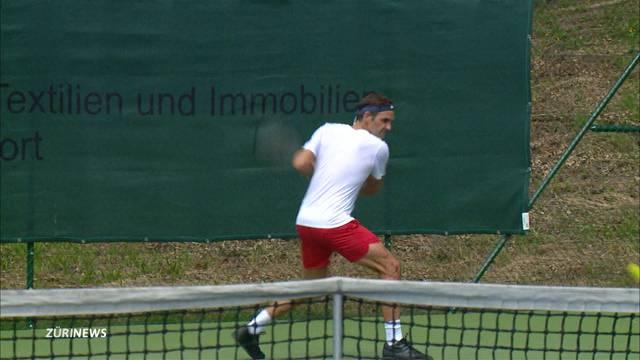 King Roger zeigt sich im GC-Tennis-Club