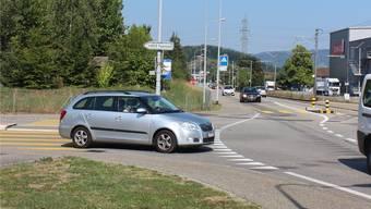 Die Einmündung der Mattenstrasse in die Kantonsstrasse.