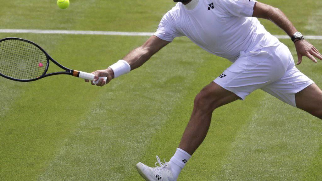 Stan Wawrinka bot bei seiner Auftaktpartie in Wimbledon eine starke Leistung