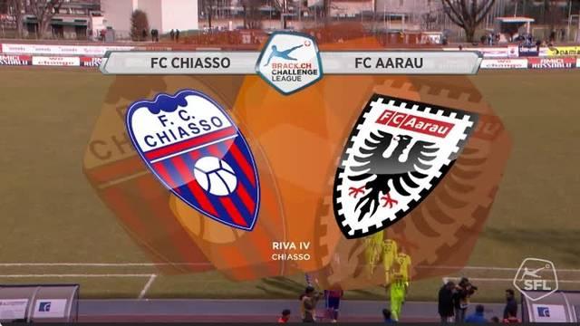 Highlights FC Chiasso - FC Aarau (22. Runde, Challenge League, 2016/17)