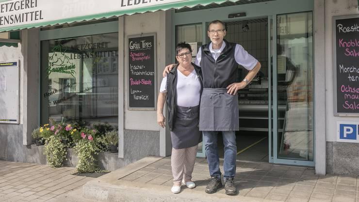 Diesen Samstag ist Schluss: Walter und Rita Baumann übergeben ihre Metzgerei in neue Hände.