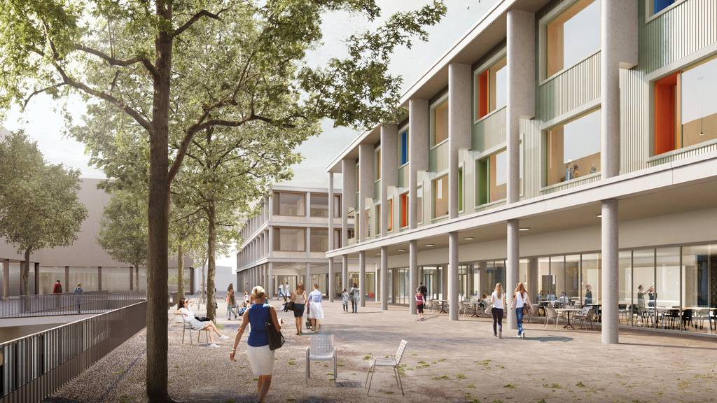 Visualisierung des Neubauprojekts Kinderspital_Frauenklinik Luzern LUKS