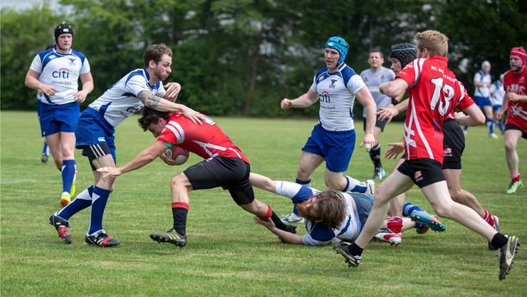 Beim Rugby Club Solothurn ist voller Körpereinsatz Programm.