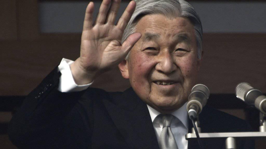 Japans Kaiser Akihito ist gesundheitlich angeschlagen und will abtreten - ein Sondergesetz soll ihm das ermöglichen. (Archiv)