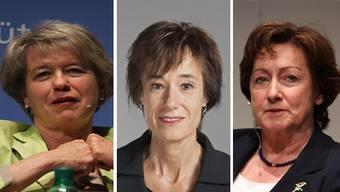 Nationalrätinnen, die für den Gripen sind: Corina Eichenberger, Ruth Humbel und Sylvia Flückiger.