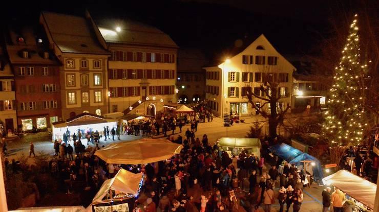 Der Weihnachtsmarkt in Aarburg.