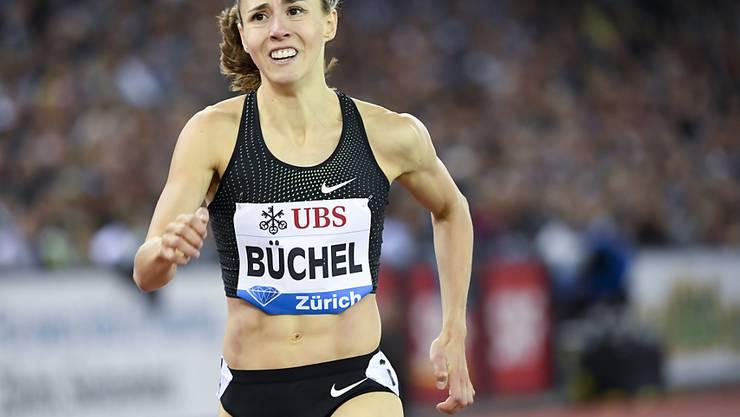 Selina Büchel im letzten August bei ihrem 800-m-Rennen bei Weltklasse Zürich