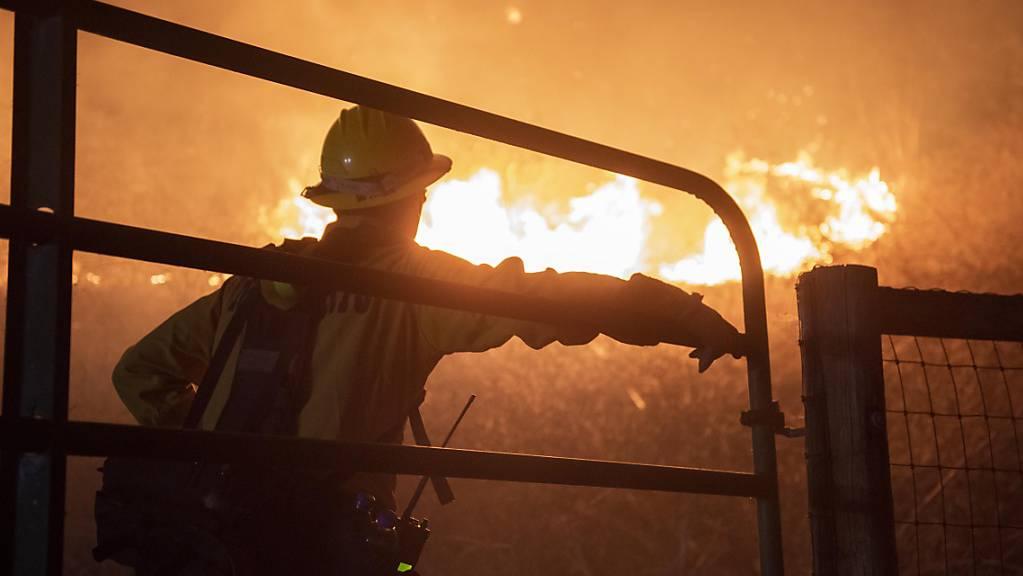 Mehr als 1000 Einsatzkräfte befinden sich derzeit im Einsatz gegen einen Flächenbrand im US-Bundesstaat Kalifornien. Foto: Erick Madrid/ZUMA Press Wire/dpa