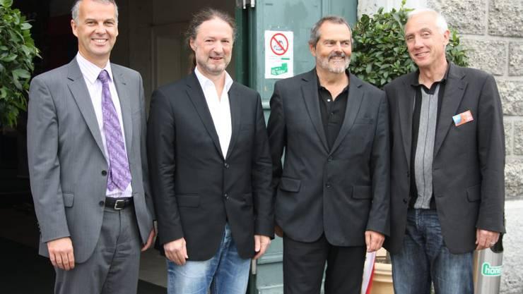 Verwaltungsrat Rythalle AG mit Markus Boss, Christoph Rölli, Roger Saudan, Hansjörg Boll (v.l.) (Foto: Wolfgang Wagmann)