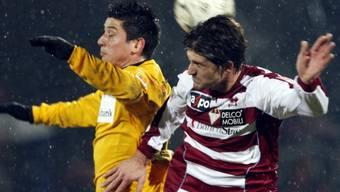 Moreno Costanzo (l.) erzielte beide Treffer für St. Gallen