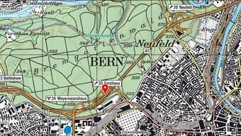 Gesperrt nach einem Unfall mit mehreren Autos: Die Stadttangente Bern in Richtung Zürich.