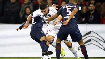 Bot Paris Saint-Germain die Stirn: Toulouse (mit Andy Delort, in weiss)