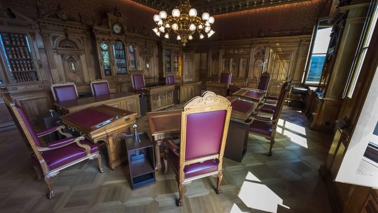 Das leere Bundesratszimmer.