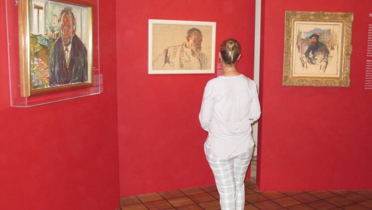 Selbstporträts (v.l.n.r.) von Edvard Munch, Franz Hodler und Claude Monet in der aktuellen Ausstellung im Pariser Museum Marmottan Monet.