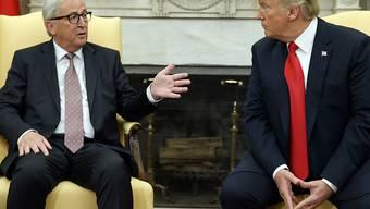 US-Präsident Donald Trump hat EU-Kommissionschef Jean-Claude Juncker im Weissen Haus empfangen. Juncker hofft, dass eine weitere Eskalation des Handelsstreits zwischen den USA und der EU vermeidbar ist.