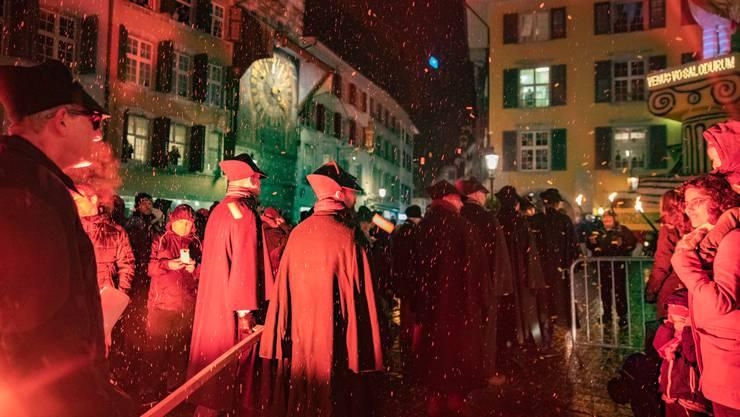 Abschluss der Fasnacht: Das Bööggverbrennen in Solothurn...
