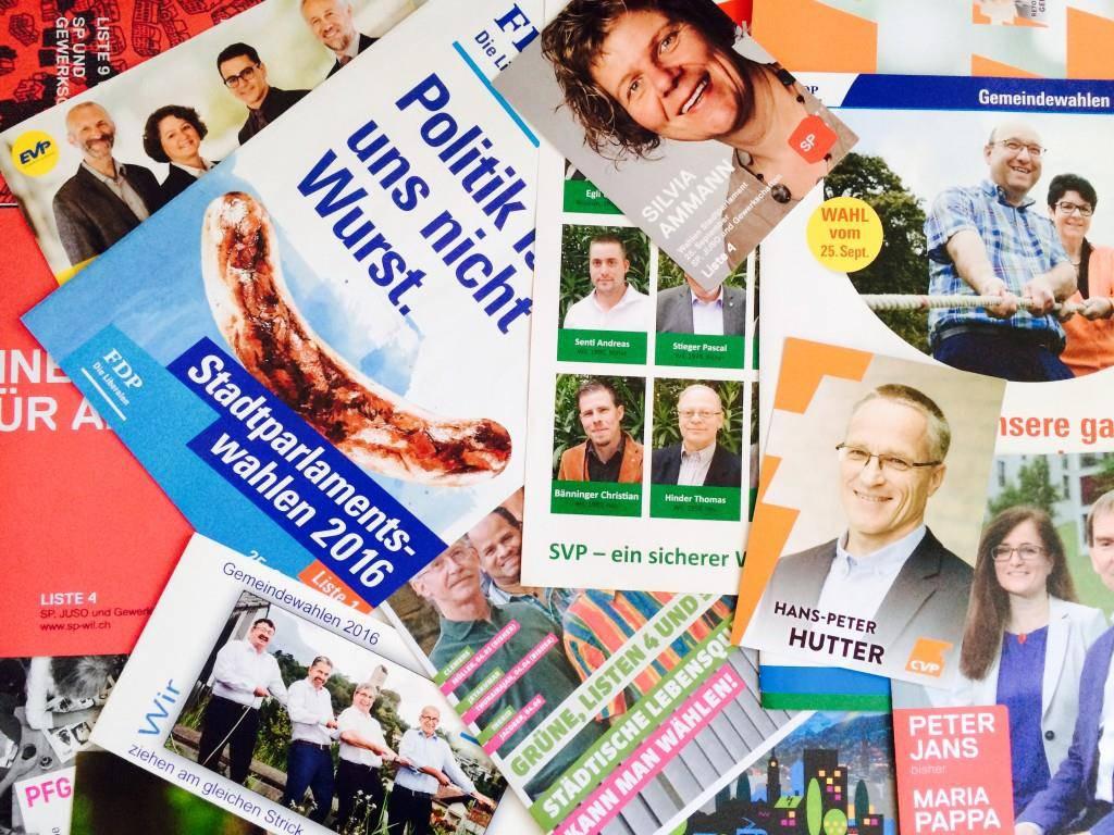 Gut für's Altpapier? Wahlprospekte-Flut in der Ostschweiz. (© FM1today)