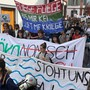 Die Klimademo ist im Gange, Startpunkt war Münsterplatz.