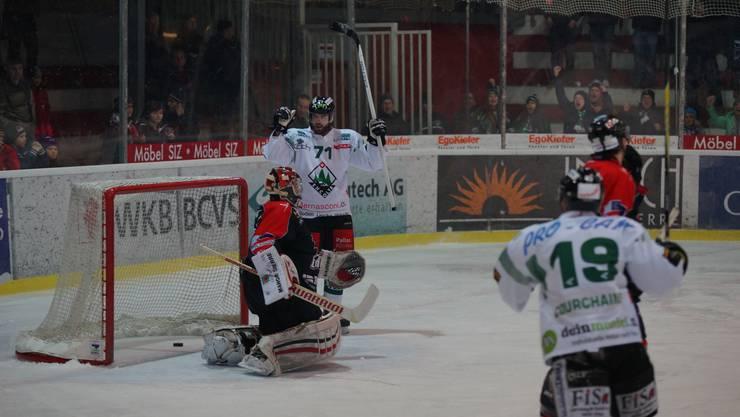 Playoff-Viertelfinal Visp gegen Olten.