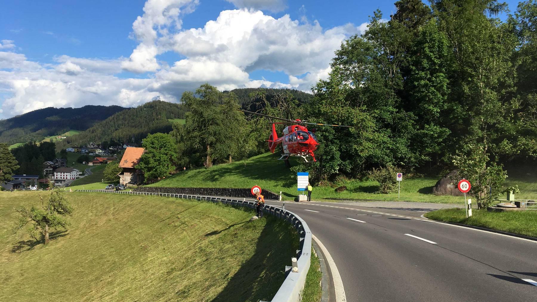 MM132_Mann in kritischen Zustand ins Spital geflogen