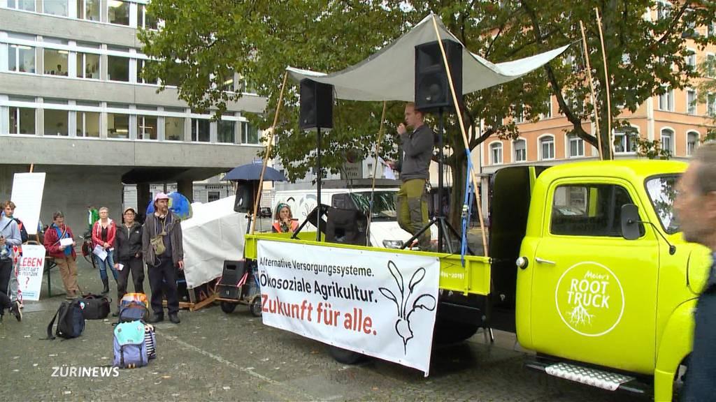 Demonstration für eine klimaneutrale Landwirtschaft