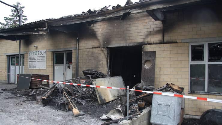 Der Brand auf dem Bargetzi-Areal war das Hauptereignis 2014.