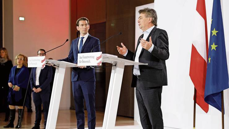 «K&K»: Ihren Spitznamen haben Kanzler Sebastian Kurz (l.) und Vizekanzler Wolfgang Kogler bereits erhalten.