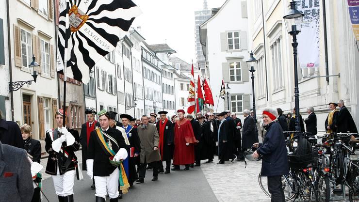 Traditionsreich: Am Dies Academicus trägt man Farbe. bz-archiv/niz