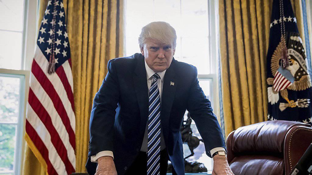 Sorgt bei den Medien für starke Einschaltquoten: US-Präsident Donald Trump. (Archivbild)