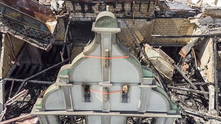 Zu gefährlich: Die Brandruine beim Zürcher Hauptbahnhof darf nicht betreten werden.