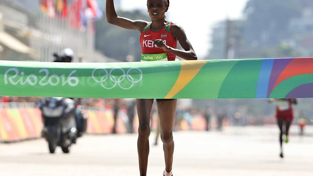 Marathon-Olympiasiegerin Jemima Sumgong hat mit unerlaubten Mitteln nachgeholfen