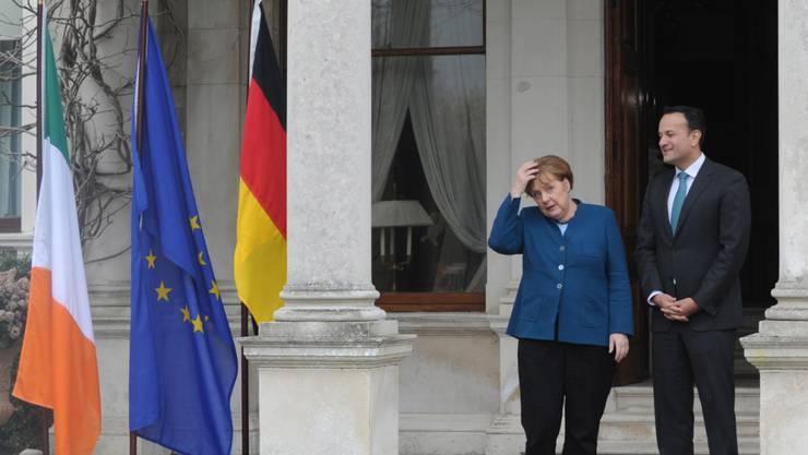 Der Brexit und die Grenzsituation zwischen Irland und Nordirland standen am Donnerstag auch im Zentrum eines Treffens von Bundeskanzlerin Angela Merken mit dem irischen Premierminister Leo Varadkar.