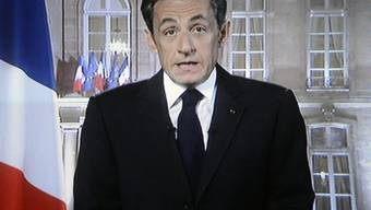 Nicolas Sarkozy während seiner Neujahrsansprache