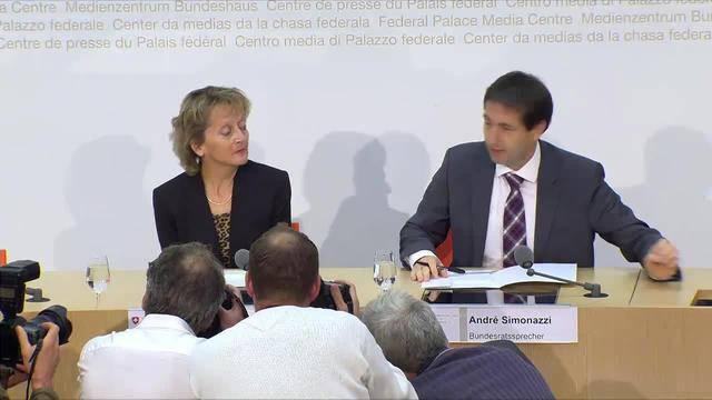 Sondersendung: Rücktritt von Widmer-Schlumpf