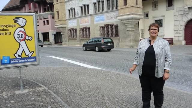 Gemeindepräsidentin Claudia Witschi eröffnet die Begegnungszone in Büren: «Es ist ein Meilenstein»