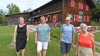 Bea Rey, Vorstandsmitglied, Co-Präsidentinnen Monika Siegrist und Hannah Küffer und Vorstandsmitglied Röbi Ackermann Wer den Aufstieg wagt, wird mit einer einzigartigen Aussicht auf Olten belohnt.