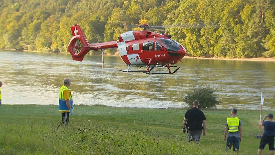 Hemishofen SH: Mann stirbt bei Gummibootunfall auf dem Hochrhein
