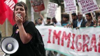 Demo in Athen gegen Fremdenfeindlichkeit