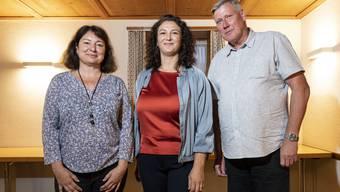 Die Juristin (von links) setzte sich gegen ihre Konkurrenten Songül Viridén und Adrian Leimgrübler durch.