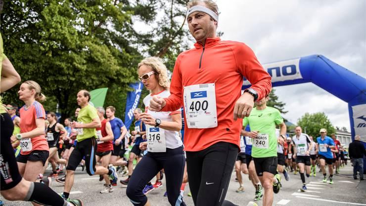 Start des Grenchenberglaufs 2016.